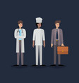 group of workers avatars characters vector image vector image