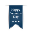 hanging ribbon on the day of america39s veterans vector image vector image