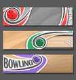 horizontal banners for bowling vector image vector image