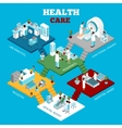 Hospital Healthcare Departments Isometric vector image vector image