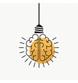 Human brain idea concept in modern line art style vector image