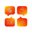 iron toaster and blender icons vector image vector image