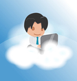 Man Work Cloud Funny Float vector image vector image