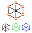 medical network flat icon vector image vector image