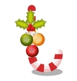 merry christmas candy cane vector image