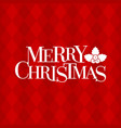 merry christmas typographic design poster vector image vector image