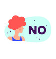 no modern flat character silhouette woman vector image vector image