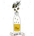 Olive oil in bottle vector image vector image