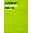 Origami banana leaf vector image vector image