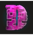 pink plastic figure d vector image vector image