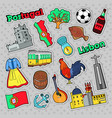 portugal travel elements with architecture vector image vector image