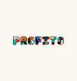profits concept word art vector image vector image