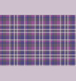 purple pixel plaid fabric texture seamless pattern vector image vector image
