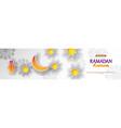 ramadan kareem concept horizontal banner vector image vector image
