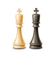 realistic 3d king chess pieces black white vector image