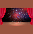 red curtains theater scene stage colorful glitter vector image