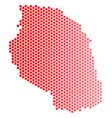 red dot tanzania map vector image vector image