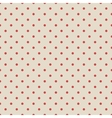 Red vintage polka dot seamless pattern on fabric vector image vector image