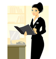 secretary in office vector image