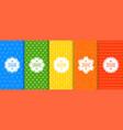 set colorful seamless geometric arrow patterns vector image