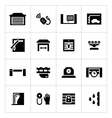 Set icons of automatic gates vector image