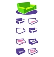 Set of icons sofa vector image