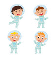 set ofastronaut kids isolated on white background vector image vector image