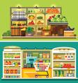Shop supermarket interior vector image vector image