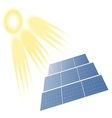 Solar Batteries and Sun vector image vector image