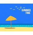 summertime holidays card vector image