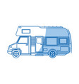 truck camper home travel transport image vector image vector image