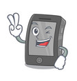 two finger ipad isolated with in character vector image vector image