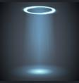 ufo light effect glow circle rays energy screen vector image
