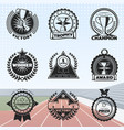 vintage sport rewards labels set vector image vector image
