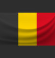 waving national flag of belgium vector image vector image