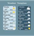 weather widgets template vector image vector image