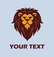 wild lion logo vector image