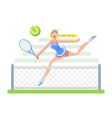 Woman tennis player vector image vector image