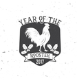 year rooster 2017 typography vector image vector image