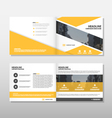 Yellow annual report Leaflet Brochure Flyer vector image vector image