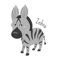 Zebra isolated Child fun pattern icon vector image vector image