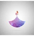 Abstract creative concept icon of diwali vector image