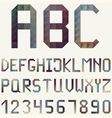 Latin Alphabet made of Geometric Pattern vector image