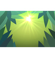 abstract jungles background with sun rays vector image