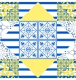 Seamless patchwork pattern Quilted fabric style vector image