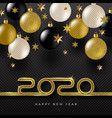 2020 new year greeting design vector image vector image