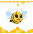 a cute bee flying and smiling vector image vector image