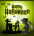 a poster on the theme of the halloween holiday vector image vector image