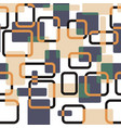 abstract squares seamless vitage pattern vector image vector image
