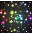 abstract star glowing shape with lights and dark vector image vector image